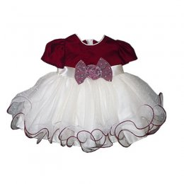 B1024 PARTY DRESS BURGANDY