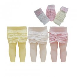 GIRLS FRILLY TIGHTS - LACE
