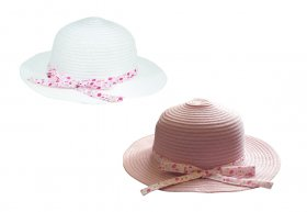GIRLS SUMMER HAT WITH BOW