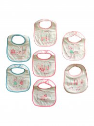 7 PACK BIBS - MONDAY - SUNDAY GIRLS