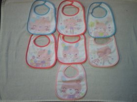 7 PACK BIBS - ANIMALS