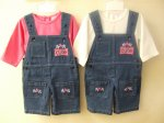 BABY DENIM DUNGAREE AND LONG SLEEVE TOP