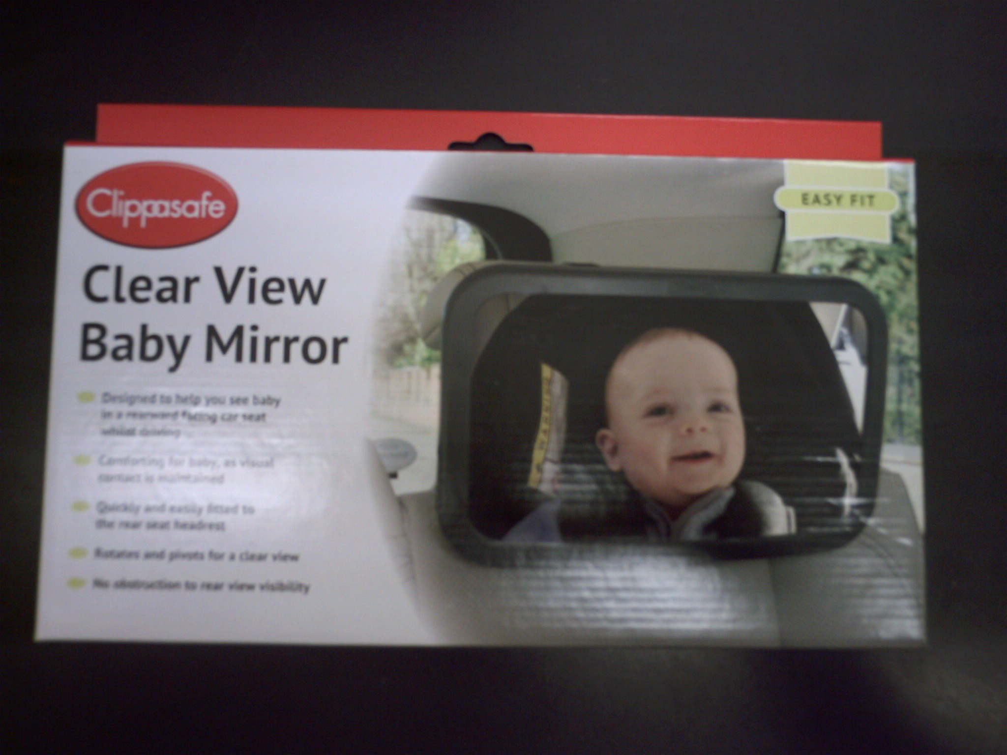 CLEAR VIEW BABY MIRROR -58 GREY TRIM
