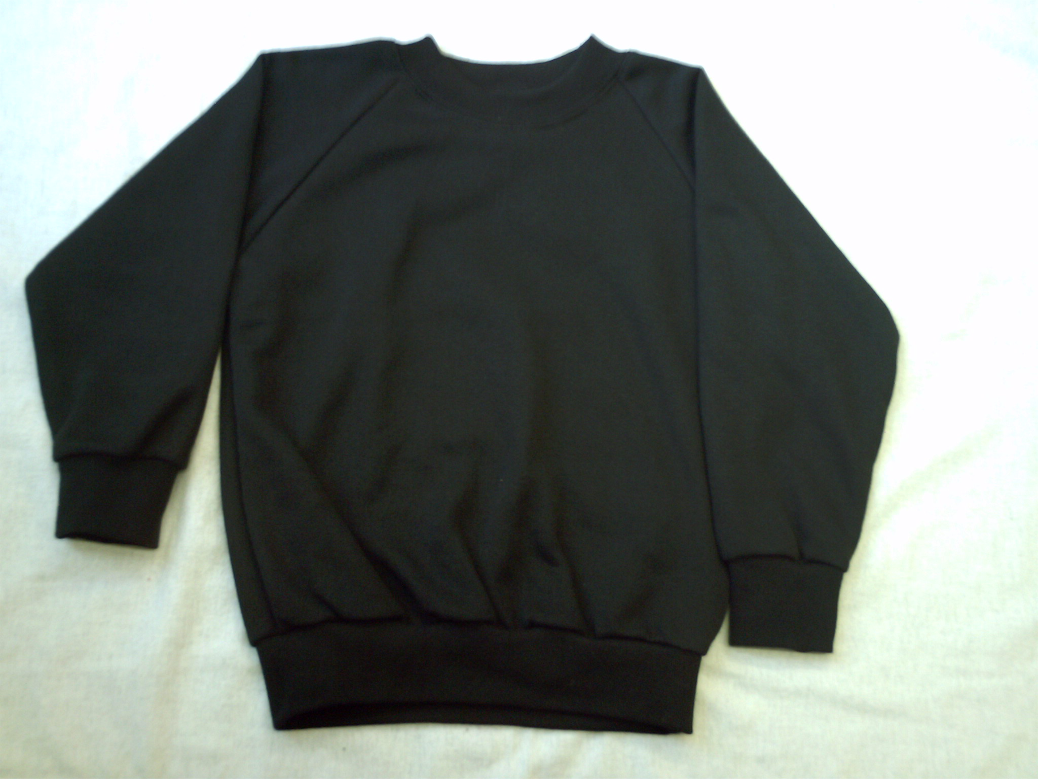 SCHOOL SWEATSHIRT BLACK-ROUND NECK