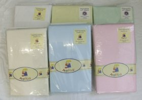 ANGEL KIDS FLANNELETTE COT SHEETS (1 PAIR)